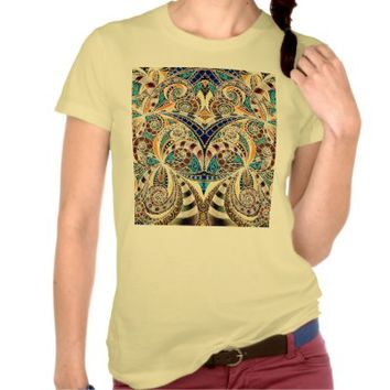 T-Shirt Drawing Floral Zentangle