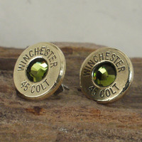 Colt 45 Cactus Ultra Thin Bullet Earrings by ShellsNStuff