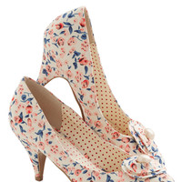 Just My Cup of Tea Heel in Cream | Mod Retro Vintage Heels | ModCloth.com