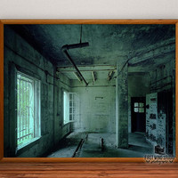 Abandoned Army Base Photography, window photo print, fine art, mechanic wall art, rusty wall decor, home decor, 8x10, 11x14, 12x15, 16x20