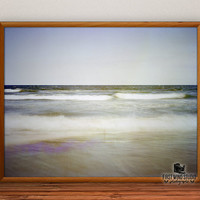 Ocean Waves Photography, sea photo print, seascape fine art, horizontal wall art, seashore wall decor, sand home decor, 8x10, 12x15, 16x20