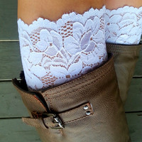 White Lace boot cuff accessories