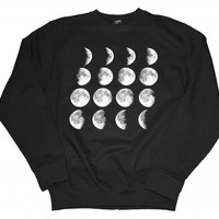 21 Century Clothing Unisex-Adult Moon Phases Sweatshirt X-Large Black
