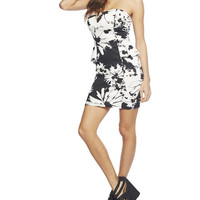 Floral Tube Peplum Dress | Wet Seal