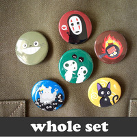 Totoro & Studio Ghibli  6 buttons  15 by CuteAndCoolDesigns