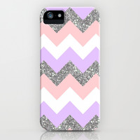 purple & coral chevron iPhone & iPod Case by Hannah