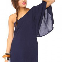 Asymmetric Flare Dress - Navy | NASTY GAL | Jeffrey Campbell shoes, Evil Twin, MinkPink, BB Dakota, vintage dresses + more!
