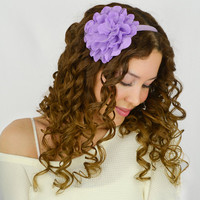 Flower Headband Lavender Floral stretch hair band Bohemian headband womens headband Boho Headband flower wedding headband floral headband