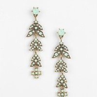 Crystal Leaves Drop Earring - Urban Outfitters