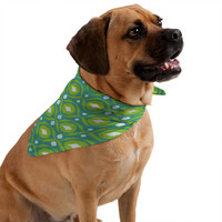 Loni Harris Summer Green Ikat Pet Bandana