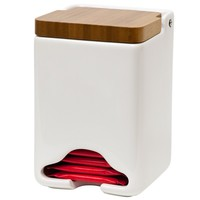 White Ceramic Tea Bag Dispenser