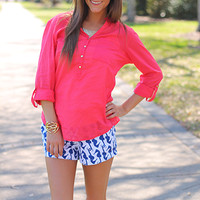 Throw It On And Go Top, Coral