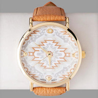 AKUMAL TRIBAL PRINT WATCH