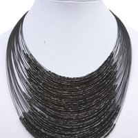 Layered Wire & Bead Necklace | Wet Seal