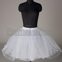 wedding dress accessories/short ball gown petticoat/underskirt/slip­/crinoline