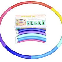 Weighted Sports Hula Hoop for Weight Loss - Trim Hoop 2MS 2.5 lb. No Ridge, Travel Easy and Easy to Assemble/disassemble