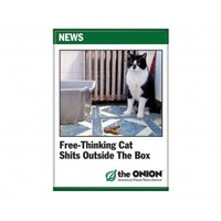 Free Thinking Cat Magnet