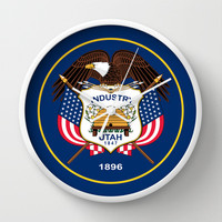 Utah State Flag - Authentic Version Wall Clock by Bruce Stanfield