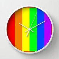 Rainbow Wall Clock by Bruce Stanfield