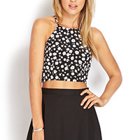 Quirky Floral Crop Top