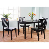 Shaker 5 Piece Dining Set, Black