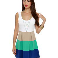 Cute Color Block Dress - Tank Dress - $37.50
