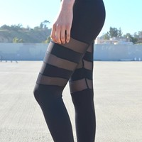 Three Shadow Mesh Leggings | Shop Civilized