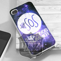 5SOS Blue Galaxy - iPhone 4/4s/5/5c/5s Case - Samsung Galaxy S2/S3/S4 Case- Blackberry z10 - iPod 4/5 - Black or White