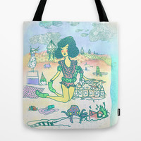 Beach Party Tote Bag by Ben Geiger