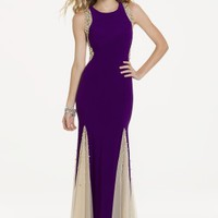 Beaded Illusion Side and Goget Dress