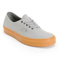 Vans Authentic Frost Grey & Gum Canvas Shoe