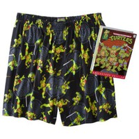 Men's Teenage Mutant Ninja Turtles Boxers with Free Tin Gift Box - Black