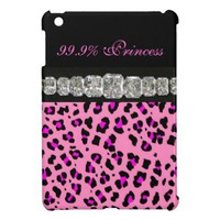 99.9% Princess, Cheetah Print, Diamonds iPad Case