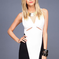 HIGH CONTRAST BODYCON DRESS