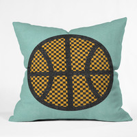Nick Nelson Op Art Basketball Outdoor Throw Pillow