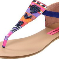 Betsey Johnson Women's Bachi Thong Sandal - designer shoes, handbags, jewelry, watches, and fashion accessories | endless.com