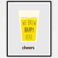 Kitchen art, Beer Print, Bar Decor, Bar poster, Kitchen Print, Typography Poster Wall Art Inspirational Print, Drinks Quote Art, Brew poster