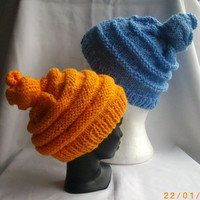 Emma's Quirky Hat PDF knitting pattern in two styles