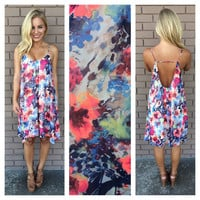 Floral Alice Low Back Dress
