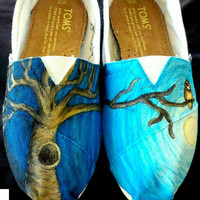 Custom TOMS Tree and Owl by beargallery on Etsy