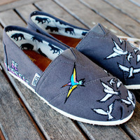 BE YOURSELF custom handpainted TOMS shoes by BStreetShoes on Etsy