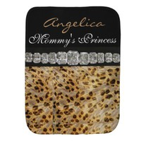 Princess & Diamonds Burp Cloth Leopard Print
