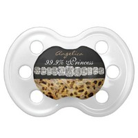 Princess & Diamonds, Leopard Print Pacifier
