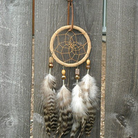 Feather Dream Catcher Dream Catcher Brown Feather by InkandRoses13