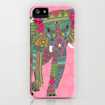 *** SALE *** free worldwide shipping and $5 off on NOW painted elephant pink iPhone & iPod Case by Sharon Turner