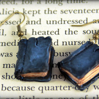 Beloved Book Earrings - Jewelry Handmade by NeverlandJewelry on Etsy