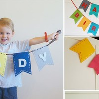 FELT BUILD YOUR OWN BANNER or BUNTING