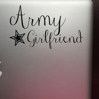Army Girlfriend Decal for Laptop, Car or iPad