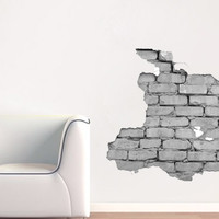 Modern , Urban and Contemporary - Brick Wall - Wall Decals , Home WallArt Decals