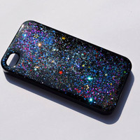 Sparkle iphone case, Glitter iphone, Custom case, Galaxy iPhone case, iphone 4 case iPhone 4s case, Phone4 Cover, personalized iphone case